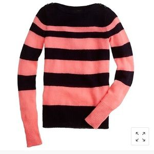 J. Crew Button Boatneck Sweater